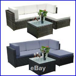 RATTAN GARDEN FURNITURE LOUNGE CORNER SET Table Outdoor Patio Color Option