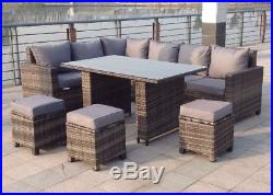 Magnificent Rattan 9 Seater Uv Outdoor Corner Sofa Set Garden Furniture Pabps2019 Chair Design Images Pabps2019Com