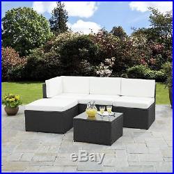 Rattan Corner Sofa Garden Furniture Sets in Black and Brown