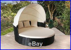 Rattan Day Bed Rattan Garden Furniture Sofa Lounger Outdoor Patio Wicker New