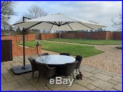 Rattan Effect 7pc Garden Furniture Set Outdoor Patio Table, Chairs & Umbrella