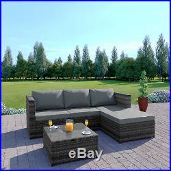 Rattan Garden Corner Sofa And Table Patio Furniture Chair Set Black Grey Brown