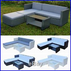 Rattan Garden Corner Sofa Table Set Patio Dining Furniture Outdoor Conservatory