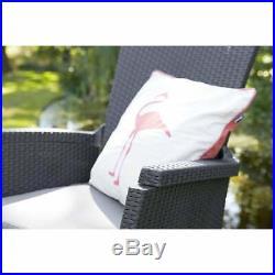 Rattan Garden Furniture 2 Recline Chairs Table Outdoor Patio Balcony Lounge Set