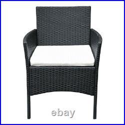 Rattan Garden Furniture 4piece Set Chair Sofa Table Garden Patio Furniture Black