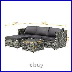 Rattan Garden Furniture Corner Sofa Set Lounger Table Patio Outdoor Conservatory