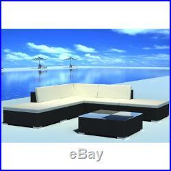 Rattan Garden Furniture Lounge Set Dining Corner Sofa Table Outdoor Patio New UK