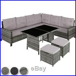 Rattan Garden Furniture Lounge Set Dining Group Corner Sofa Table Outdoor Patio
