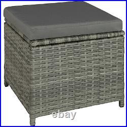 Rattan Garden Furniture Lounge Set Dining Group Sofa Table Outdoor Grey Beige