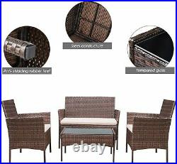 Rattan Garden Furniture Set 4 Seater Outdoor Sofa Chair Table Patio Conservatory