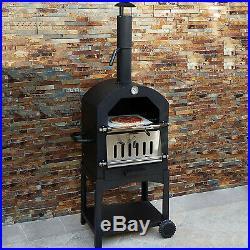 Rattan Garden Furniture Set Black Sofa Table Stools Patio Dining FREE Pizza Oven