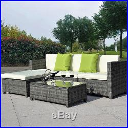 Rattan Garden Furniture Set Chairs Sofa Table Outdoor Conservatory Wicker