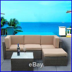 Rattan Garden Furniture Set Corner Sofa Lounge Table Outdoor Patio Park Hub