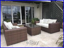 Rattan Garden Furniture Set Table Sofa