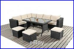 Rattan Garden Furniture Sofa Dining Table Set Conservatory Outdoor Patio Set