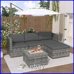 Rattan Garden Furniture Sofa Set Patio Outdoor Corner Lounge Seat Conservatory