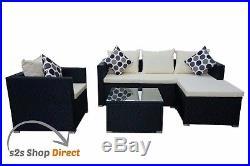 Rattan Garden Furniture Sofa Table Chairs Set Garden Patio Rattan