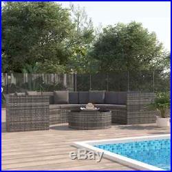 Rattan Garden Lounge Set Patio Pool Furniture Corner Sofa Modular Sofa Table Set