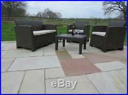 Rattan Garden Patio Conservatory Sofa Set Outdoor Chairs Furniture Seat 4