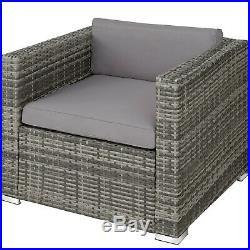Rattan Garden Set Patio Furniture Sofa Table Seater Outdoor Wicker Lounge Grey