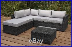 Rattan Modular Corner Sofa Coffee Table Patio Conservatory Set Garden Furniture