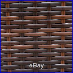 Rattan Modular Corner Sofa Set Garden Furniture Black Brown Or Grey FREE COVER