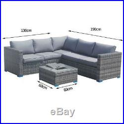 Rattan Outdoor Corner Sofa Set Garden Furniture Grey or Brown With Ice Bucket