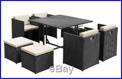 Rattan Outdoor Garden Conservatory Furniture Cube Chair Sofa Set Wicker Patio