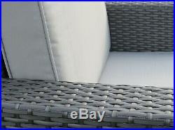 Rattan Patio Garden Conservatory Outdoor Sofa Set Chairs Furniture 6 pcs GREY