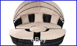 Rattan Sun Island Luxury Canopy Sofa Lounger Day Bed Outdoor Garden Furniture
