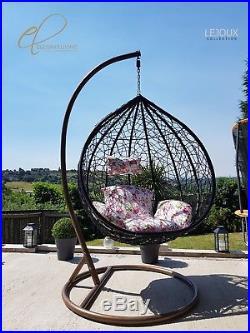 Rattan Swing Patio Garden Hanging Egg Chair Cushion Garden Outdoor Furniture