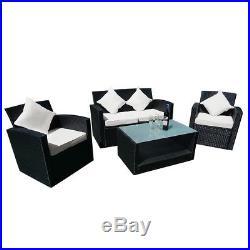 Rattan Wicker Garden Furniture Patio Conservatory Set 4 Seater Sofa Table Set