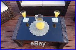 Rattan Wicker Weave Garden Furniture Conservatory Sofa Set