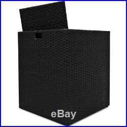Rattan Wicker Weave Garden Furniture Cube Sofa Table Outdoor Black -free Cover