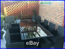 Rattan cube set Garden Furniture 11 pieces