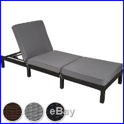 Rattan day bed chair sun lounger recliner garden furniture patio terrace