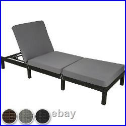 Rattan day bed chair sun lounger recliner garden furniture patio terrace new