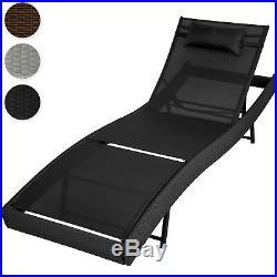 Rattan day bed sun canopy lounger recliner garden furniture patio terrace