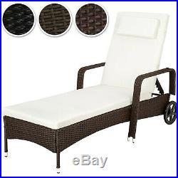 Rattan day bed sun canopy lounger recliner garden patio terrace furniture new