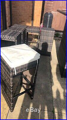 Rattan garden furniture set Bar/ High Chairs 6