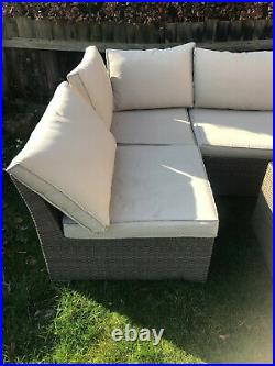 Rattan garden furniture used