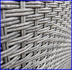 San Diego Sofa Set Grey Rattan Weave Garden Furniture
