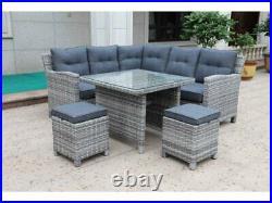 Sarasota Rattan Garden Dining Set 2,4,6 Seat Wicker Sofa Set Sun Lounger
