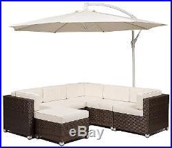 Savannah Rattan Corner Sofa Set Outdoor Garden Furniture including Coffee Table