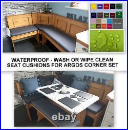 Seat Cushions For Argos Corner Dining Furniture Waterproof Home & Garden