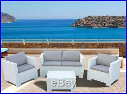 Set Patio Garden Furniture Rattan Outdoor Table Sofa Wicker Conservatory Weave