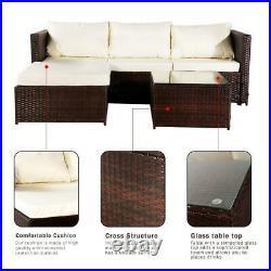 UK Rattan Garden Furniture Set Outdoor Table Chair Sofa Conservatory Patio Brown