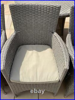 Used Grey rattan garden furniture Table And 4 Chairs