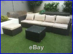 Used rattan garden furniture corner sofa set