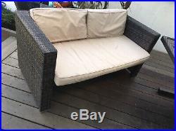 Used rattan garden furniture set